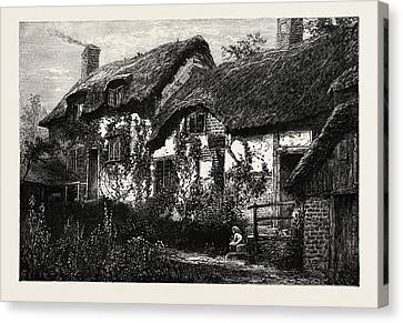 Anne Hathaways Cottage, Uk Canvas Print by English School
