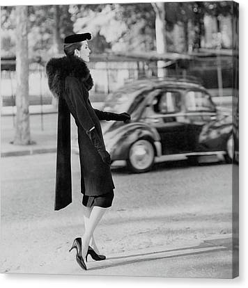 Anne St. Marie Standing In A Street Canvas Print