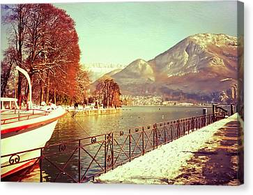 Annecy Golden Fairytale. France Canvas Print by Jenny Rainbow
