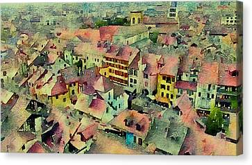 Canvas Print featuring the photograph Annecy Rain by Susan Maxwell Schmidt
