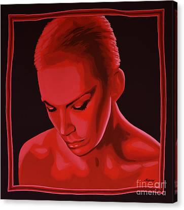 Annie Lennox Canvas Print by Paul Meijering