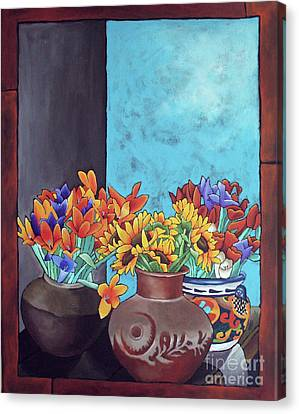 Annie's Flowers Canvas Print by Yvonne Gillengerten