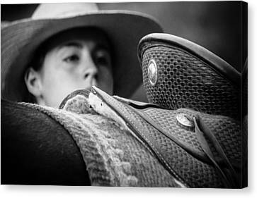 Canvas Print featuring the photograph Annie's Saddle by Steven Bateson