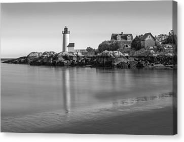 Annisquam Lighthouse Bw Canvas Print by Susan Candelario