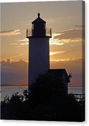 Annisquam Lighthouse Sunset Canvas Print by Richard Bryce and Family
