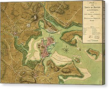 Anniv Of Paul Revere S Ride Boston In 1776 Canvas Print
