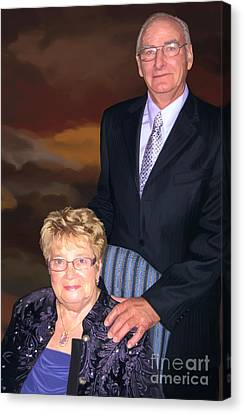 Canvas Print featuring the painting Anniversary Portrait by Tim Gilliland