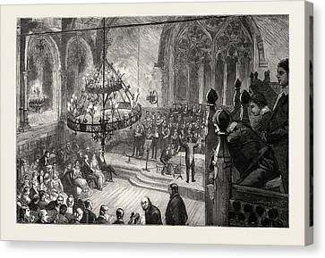 Annual Concert At Merchant Taylors School Canvas Print by English School