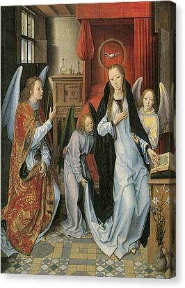 Annunciation Canvas Print by Hans Memling