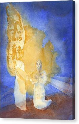 Annunciation Canvas Print by John Meng-Frecker