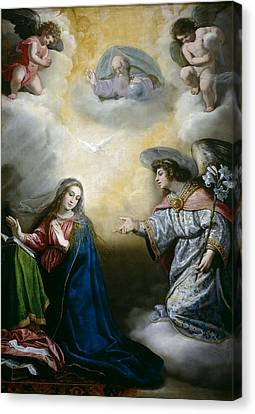 Annunciation Canvas Print by Vincenzo Carducci