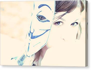 Anonymous Against Acta Canvas Print by Beatrice Murch