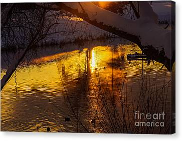 Another Beautiful Sunset Canvas Print by Gloria Pasko