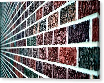 Another Brick In The Wall Canvas Print by Deena Stoddard
