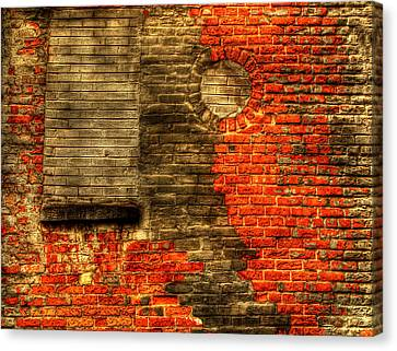 Another Brick In The Wall Canvas Print by Thomas Young