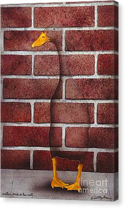 Another Brick In The Wall... Canvas Print by Will Bullas