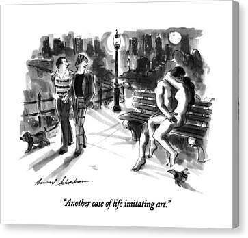 Another Case Of Life Imitating Art Canvas Print by Bernard Schoenbaum