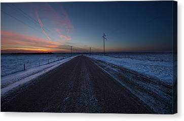 another Cold Road to Nowhere Canvas Print by Aaron J Groen