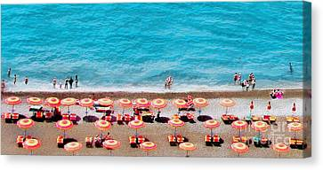 Another Day In Paradise-positano-digitized Canvas Print by Jennie Breeze