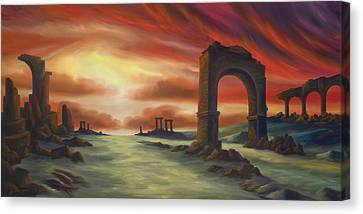 Another Fallen Empire Canvas Print by James Christopher Hill