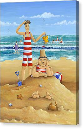 Another Fine Mess Canvas Print by Peter Adderley