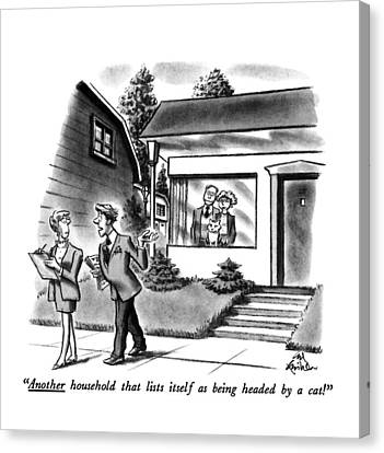 House Pet Canvas Print - Another Household That Lists Itself by Ed Fisher