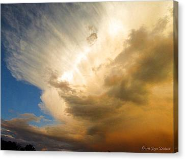 Another Incredible Cloud Canvas Print by Joyce Dickens