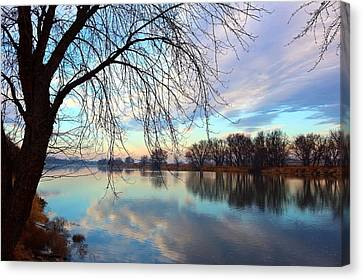 Canvas Print featuring the photograph Another Morning Reflection by Lynn Hopwood