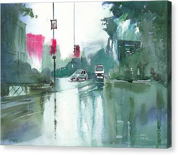Another Rainy Day Canvas Print by Anil Nene