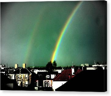 Another Scottish Rainbow Canvas Print by Mlle Marquee
