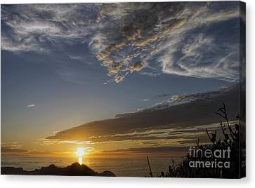 Another Socal Summer Sunset Canvas Print by Peggy Hughes