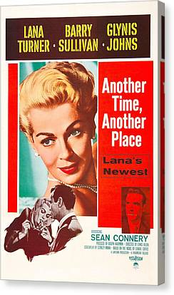 1950s Poster Art Canvas Print - Another Time, Another Place, Us Poster by Everett