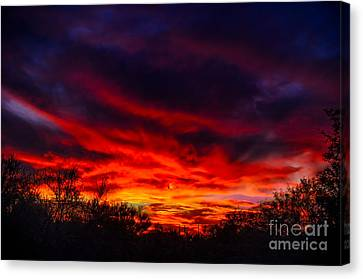 Canvas Print featuring the photograph Another Tucson Sunset by Mark Myhaver