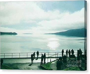 Another View Of The Beach At Tighnabruaich Canvas Print by Joan-Violet Stretch