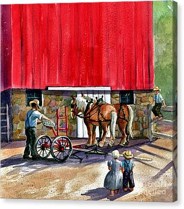 Amish Farms Canvas Print - Another Way Of Life by Marilyn Smith