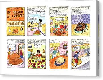 Answers To The Most Frequently Asked Questions Canvas Print by Roz Chast