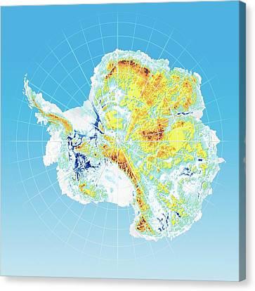 Antarctic Bedrock Canvas Print by Henning Dalhoff