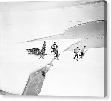Antarctic Geological Exploration Canvas Print