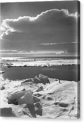 Antarctic Pack Ice At Christmas Canvas Print