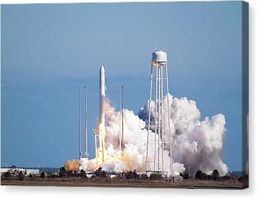 Antares Rocket Test Flight Launch Canvas Print by Nasa/bill Ingalls