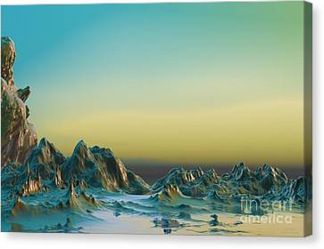 Ante Somnum - Surrealism Canvas Print by Sipo Liimatainen