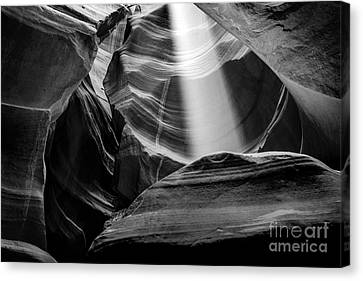 Antelope Canyon Beam 2 Canvas Print by Az Jackson