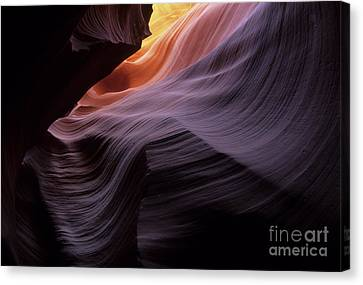 Antelope Canyon Movement In Stone Canvas Print by Bob Christopher