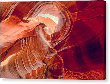 Antelope Canyon Navajo Nation Page Arizona Weeping Warrior Canvas Print by Silvio Ligutti