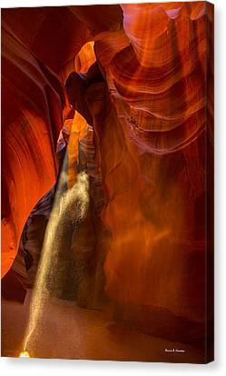 Antelope Canyon - Sand In The Light Canvas Print by Angela A Stanton
