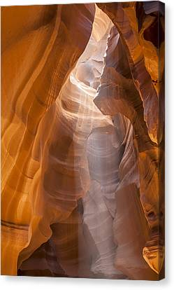 Antelope Canyon Shapes And Light Canvas Print