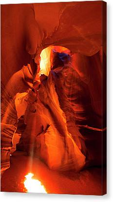 Canvas Print featuring the photograph Antelope Canyon by Tom Kelly