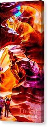 Antelope Canyon Tour Canvas Print by Az Jackson