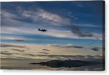 Antelope Island - Lone Airplane Canvas Print by Ely Arsha