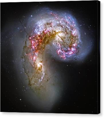 Antennae Galaxies Collide 1 Canvas Print by Jennifer Rondinelli Reilly - Fine Art Photography